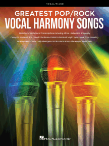 Greatest Pop/Rock Vocal Harmony Songs: Note-for-Note Vocal Transcriptions with Piano Accompaniment