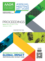 AACR 2019 Proceedings