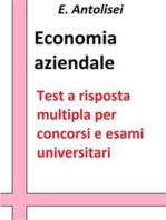 Economia aziendale. Quesiti a risposta multipla: Test a risposta multipla per concorsi e esami universitari