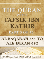 The Quran With Tafsir Ibn Kathir Part 3 of 30