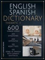 English Spanish Dictionary Thematic 2