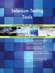 Selenium Testing Tools A Complete Guide - 2019 Edition