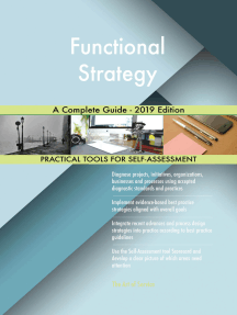 Functional Strategy A Complete Guide - 2019 Edition