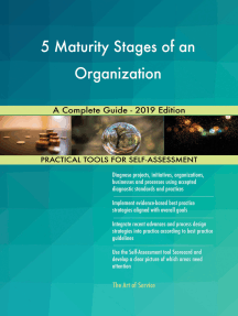 5 Maturity Stages of an Organization A Complete Guide - 2019 Edition