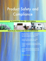 Product Safety and Compliance A Complete Guide - 2019 Edition