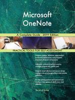 Microsoft OneNote A Complete Guide - 2019 Edition
