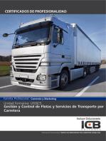UF0925: GESTIÓN Y CONTROL DE FLOTAS Y SERVICIOS DE TRANSPORTE POR CARRETERA (COML0109)