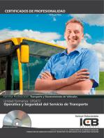 UF0472: OPERATIVA Y SEGURIDAD DEL SERVICIO DE TRANSPORTE (TMVI0108) (TMVI0208)