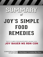 Summary of Joy's Simple Food Remedies