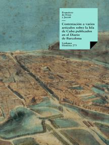 Contestación a varios artículos sobre la Isla de Cuba publicados en el Diario de Barcelona