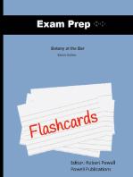 Exam Prep Flashcards for Botany at the Bar