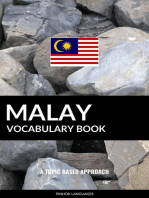 Malay Vocabulary Book: A Topic Based Approach