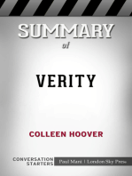 Summary of Verity by Colleen Hoover | Conversation Starters