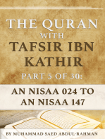 The Quran With Tafsir Ibn Kathir Part 5 of 30