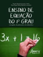 Ensino de equação do 1º grau: concepções de professores de matemática