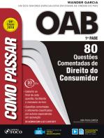 Como passar na OAB 1ª Fase: direito do consumidor: 80 questões comentadas