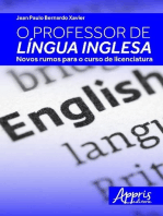 O professor de língua inglesa