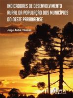 Indicadores de Desenvolvimento Rural da População dos Municípios do Oeste Paranaense