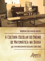 A cultura escolar do ensino de matemática na Bahia: (Re) visitando grupos escolares (1938-2000)