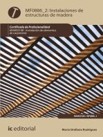 Instalación de estructuras de madera. MAMS0108