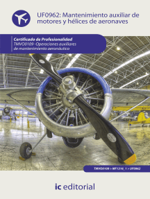 Mantenimiento auxiliar de motores y hélices de aeronaves. TMVO0109