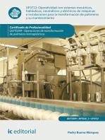 Operatividad con sistemas mecánicos, hidráulicos, neumáticos y eléctricos de máquinas e instalaciones para la transformación de políme. y su manten. QUIT0209