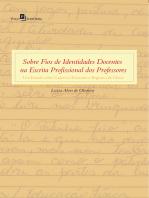 Sobre Fios de Identidades Docentes na Escrita Profissional dos Professores
