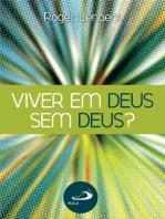 Viver em Deus sem Deus?
