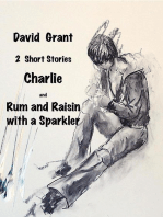 Charlie and Rum and Raisin with a Sparkler