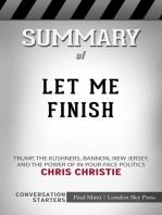 Summary of Let Me Finish