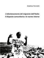 L'allontanamento del migrante dall'Italia