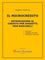 IL MICROCREDITO Introduzione al credito per soggetti non bancabili