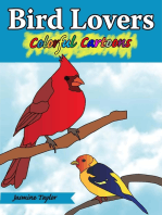 Bird Lovers Colorful Cartoon Illustrations