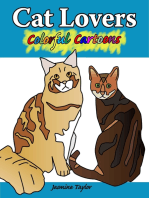 Cat Lovers Colorful Cartoons
