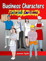 Business Characters Colorful Cartoons