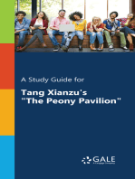 """A Study Guide for Tang Xianzu's """"The Peony Pavilion"""""""
