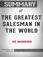Summary of The Greatest Salesman in the World by Og Mandino | Conversation Starters