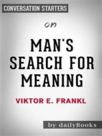 Man's Search for Meaning: by Viktor E. Frankl | Conversation Starters