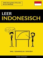 Leer Indonesisch