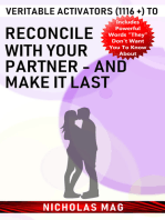 Veritable Activators (1116 +) to Reconcile with Your Partner - and Make It Last