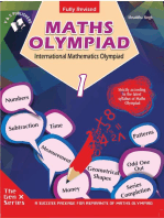 International Maths Olympiad - Class 1 (With CD): Theories with examples, MCQs & solutions, Previous questions, Model test papers