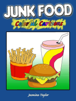 Junk Food Colorful Cartoons