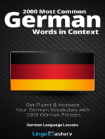 2000 Most Common German Words in Context: Get Fluent & Increase Your German Vocabulary with 2000 German Phrases