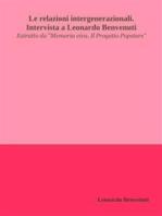 Le relazioni intergenerazionali. Intervista a Leonardo Benvenuti