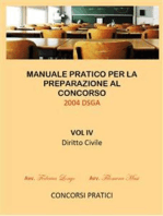 Manuale Pratico per la preparazione al concorso 2004 DSGA Vol. IV Diritto Civile