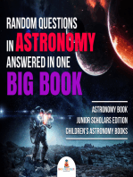 Random Questions in Astronomy Answered in One Big Book   Astronomy Book Junior Scholars Edition   Children's Astronomy Books