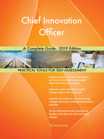 Chief Innovation Officer A Complete Guide - 2019 Edition