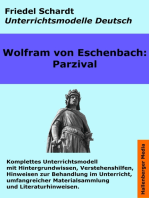 Parzival. Unterrichtsmodell und Unterrichtsvorbereitungen. Unterrichtsmaterial und komplette Stundenmodelle für den Deutschunterricht.
