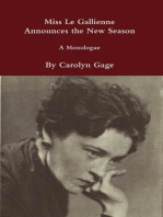 Miss Le Gallienne Announces the New Season