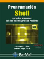 Programación shell. Aprende a programar con más de 200 ejercicios resueltos: PROGRAMACIÓN INFORMÁTICA/DESARROLLO DE SOFTWARE